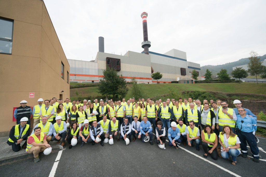 Bilbao 21-09-2018 Congreso de CEWEP (Confederación Europea de Empresas de Valorización Energética). Visita a la planta Zabalgarbi © MITXI